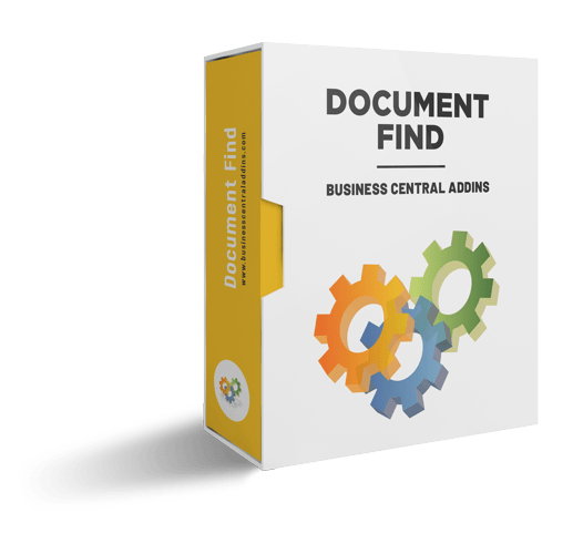 Document Find - Search and navigate to document transactions in Microsoft Dynamics NAV
